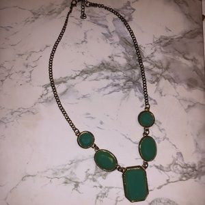 Seafoam Green Statement Necklace